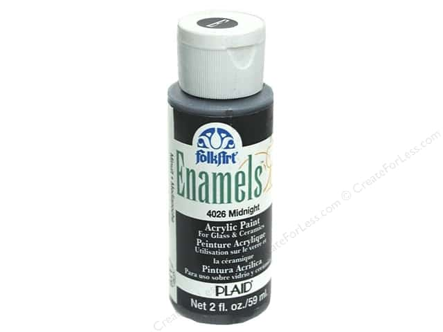 Plaid FolkArt Enamels Paint 2 oz. #4026 Midnight