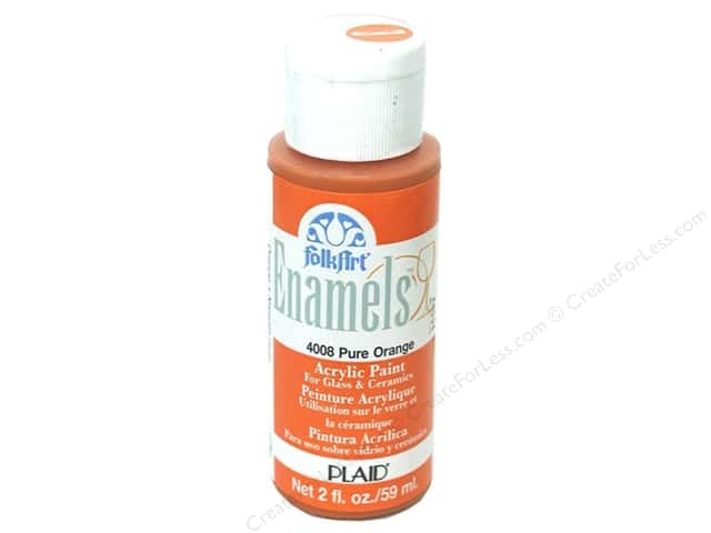 Plaid FolkArt Enamels Paint 2 oz. #4008 Pure Orange