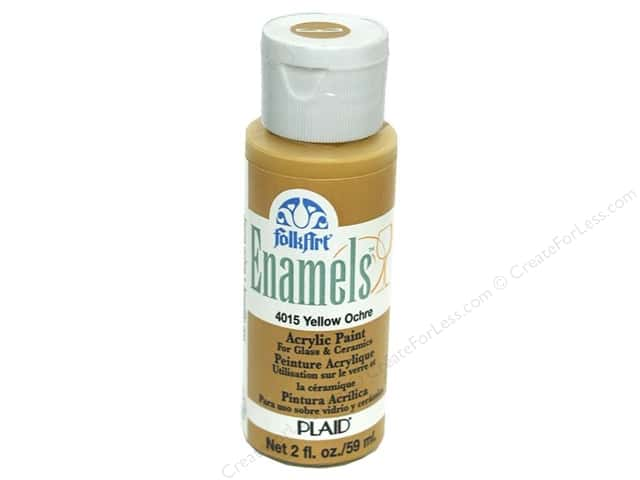 Plaid FolkArt Enamels Paint 2 oz Yellow Ochre