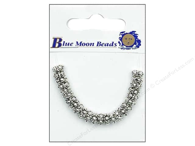 Blue Moon Beads Metal Spacer Beads 24 pc. Roundel Silver