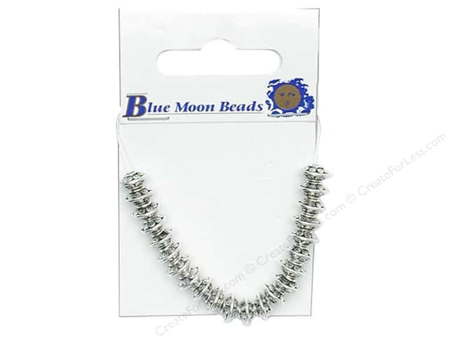 Blue Moon Beads Metal Roundel Medium Silver 22pc