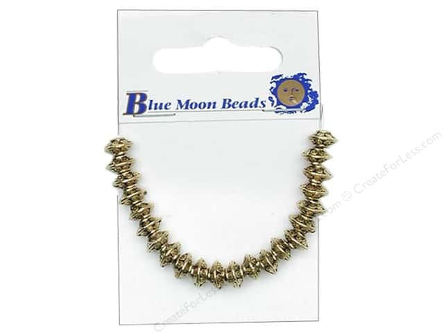 Blue Moon Beads Metal Roundel Medium Gold 22pc