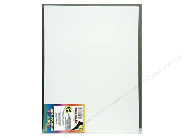 Foamies Sticky Sheet  9 x 12 in. White (10 sheets)