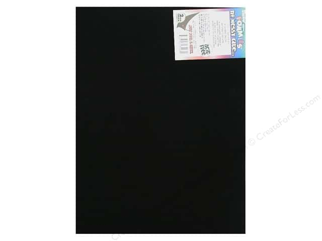 Foamies Sticky Sheet 9 x 12 in. Black (10 sheets)