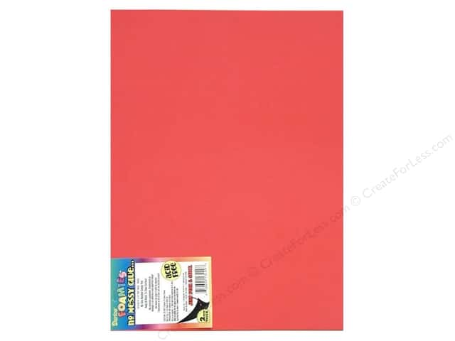 Foamies Sticky Sheet 9 x 12 in. Red (10 sheets)
