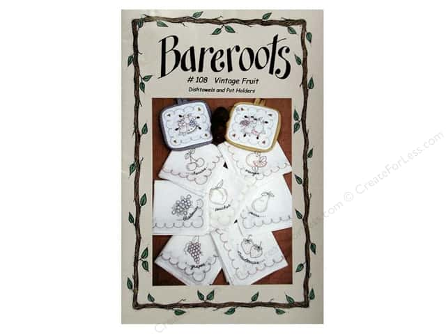 Bareroots Dishtowels & Pot Holders Vintage Fruit Pattern