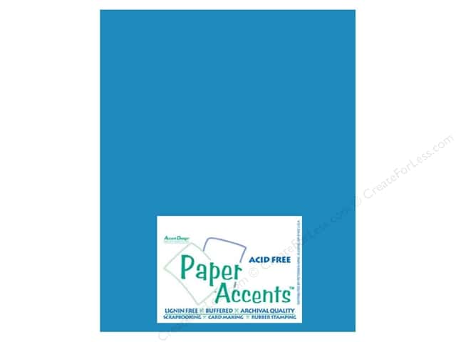 Cardstock 8 1/2 x 11 in. #10024 Stash Builder Capri Blue by Paper Accents (25 sheets)
