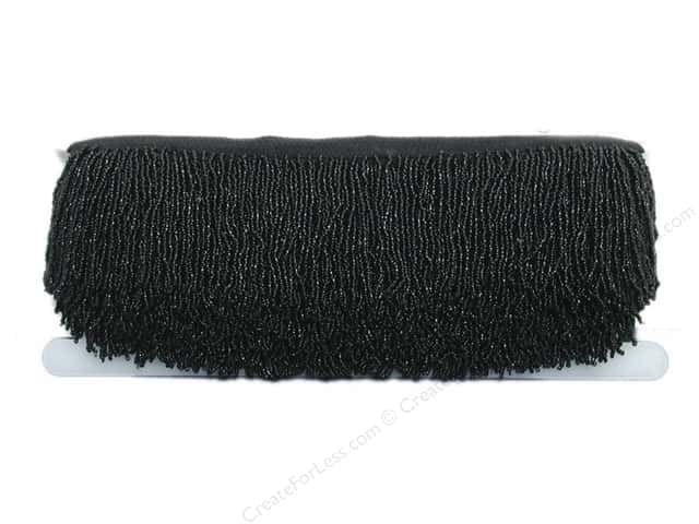 "Conso Beaded Opulance Fringe 3"" Black (12 yards)"