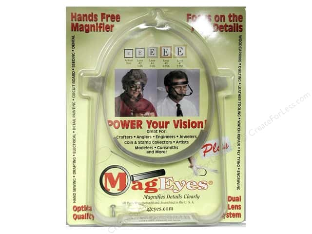 MagEyes Hands Free Magnifiers Plus with #2 & #4 & Loupe