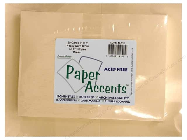 5 x 7 in. Blank Card & Envelopes by Paper Accents 50pc. Cream