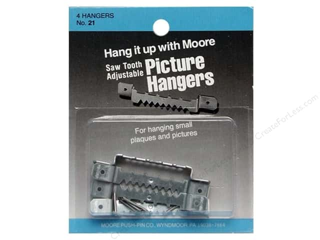Moore Picture Hangers Saw Tooth with Nails Large 4pc (3 packages)