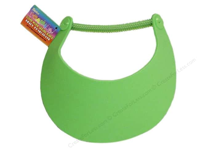 Darice Foamies Visor Neon Green (3 pieces)