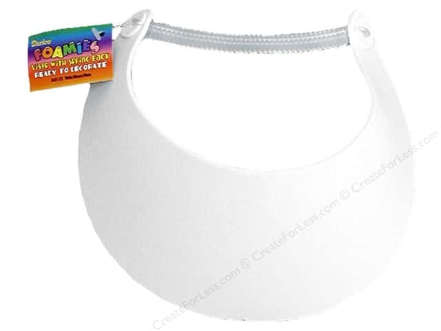 Darice Foamies Visor White (3 pieces)