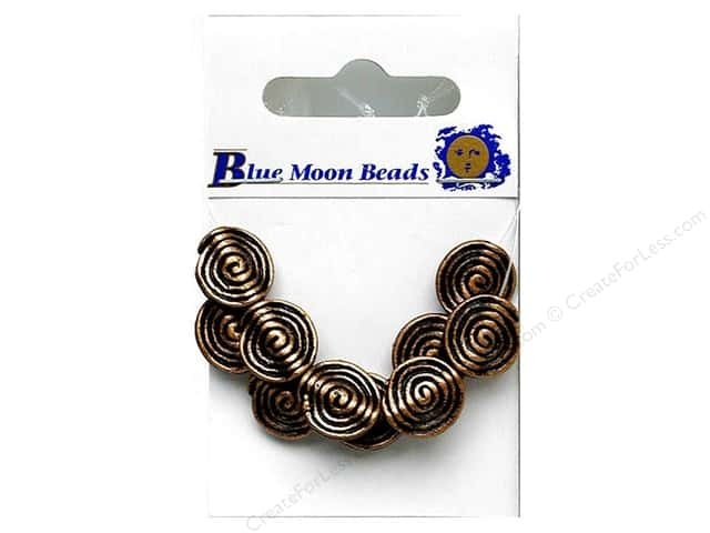 Blue Moon Beads Metal Spiral 10 pc Copper