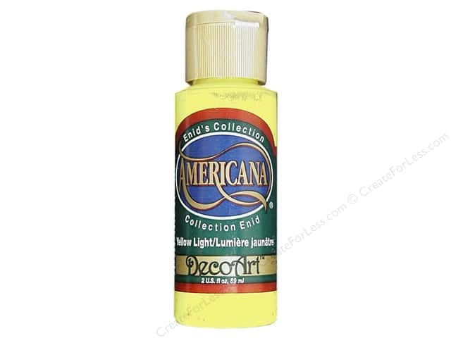 DecoArt Americana Acrylic 2oz Enid's Yellow Light