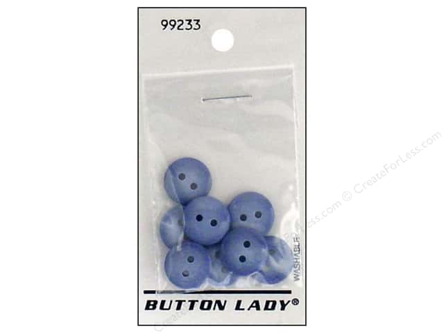 JHB Button Lady Buttons 1/2 in. Denim #99233 8 pc.