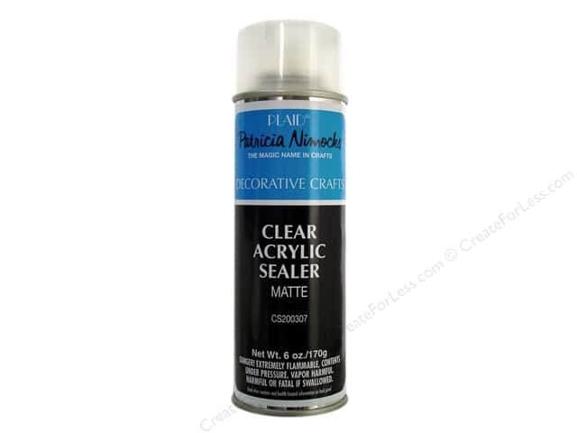 Plaid Acrylic Sealer Matte 6 oz Spray- Patricia Nimocks
