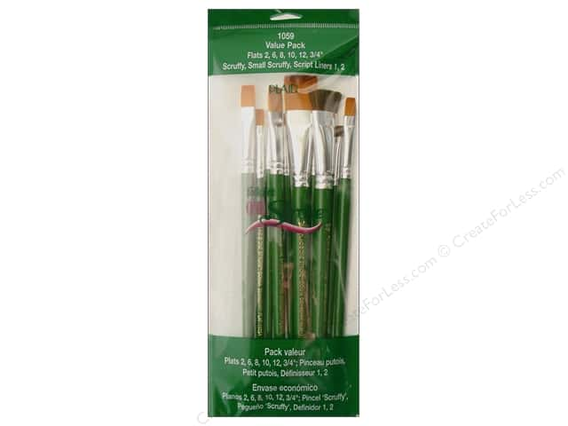 Plaid FolkArt One Stroke Brush Value Pack