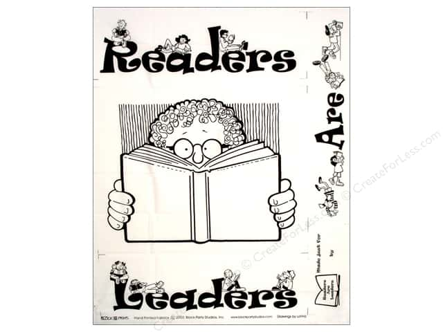 Block Party Studios Fabric Panel Readers Are Leaders (12 pieces)