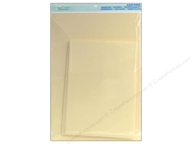 5 x 7 in. Blank Card & Envelopes by Paper Accents 10pc. Ivory