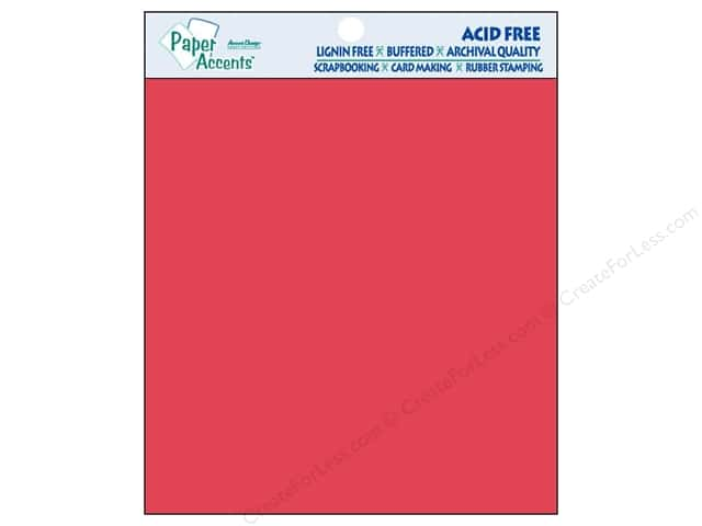 Cardstock 8 x 8 in. #101 Smooth Red by Paper Accents 25 pc.
