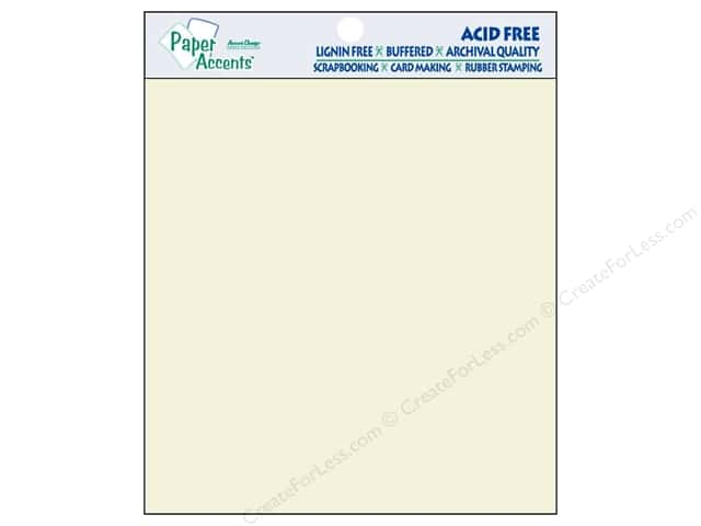 Cardstock 8 x 8 in. #119 Smooth Cream by Paper Accents 25 pc.