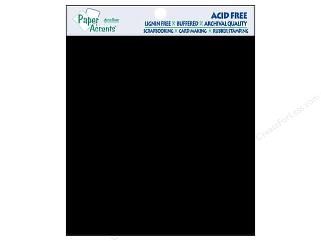 "Paper Accents Cardstock 8""x 8"" Smooth Black 15pc- 80lb"