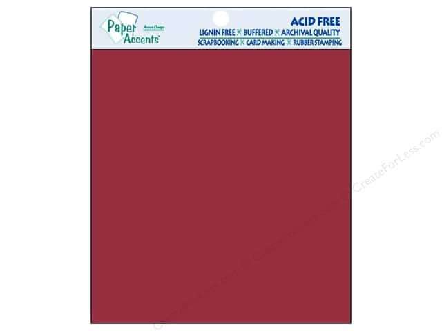 Cardstock 8 x 8 in. #139 Smooth Dark Red by Paper Accents 15 pc.