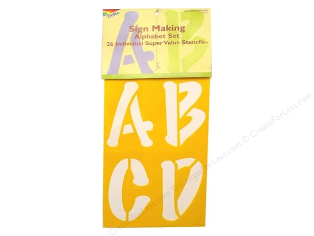 Delta Stencil Mania Super Value Alphabet Sign Makint