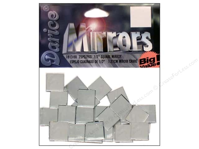 "Darice Mirrors Big Value Square .5"" 25pc"