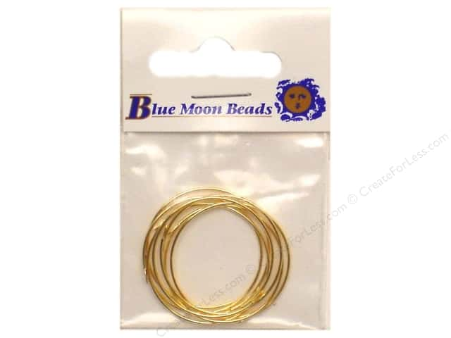 "Blue Moon Stemware Enhancer Hoop 1"" Gold 7 pc (3 packages)"