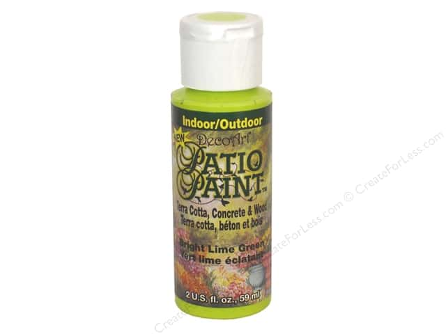DecoArt Patio Paint 2oz Bright Lime Green