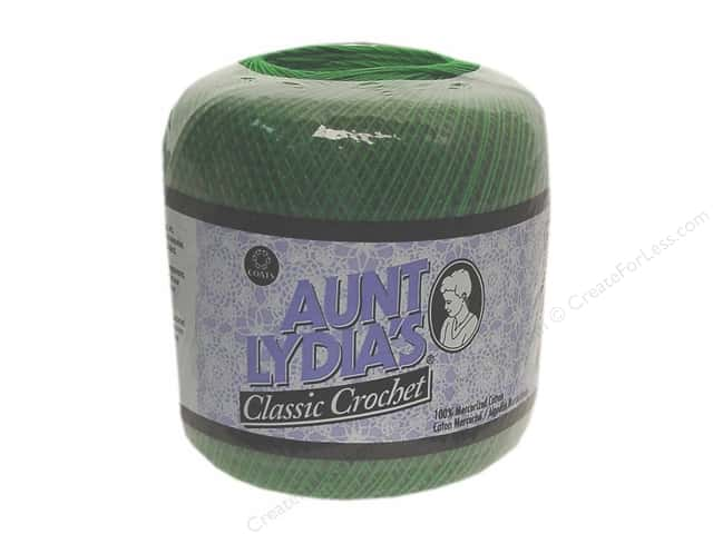 Aunt Lydia's Classic Cotton Crochet Thread Size 10 Myrtle Green