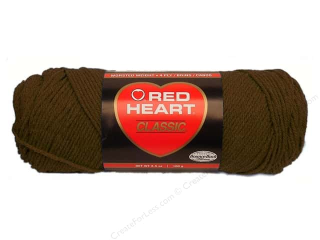Red Heart Classic Yarn 4ply Coffee