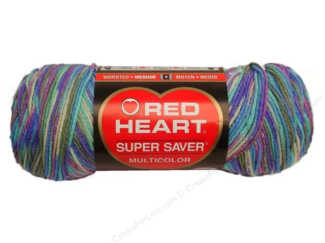 Red Heart Super Saver Yarn #0310 Monet Print 5 oz.