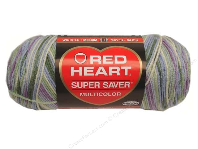 Red Heart Super Saver Yarn #0318 Watercolor 244 yd.