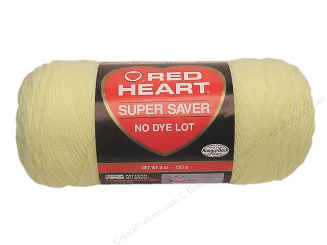 Red Heart Super Saver Yarn #0322 Pale Yellow 7 oz.