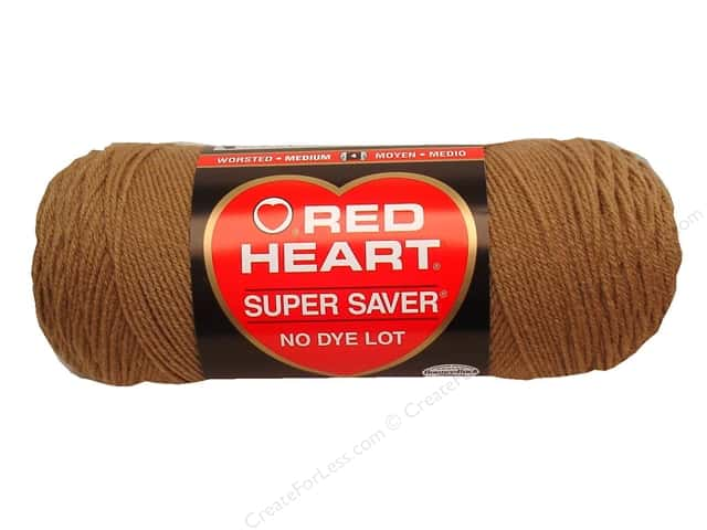 Red Heart Super Saver Yarn #0336 Warm Brown 364 yd.