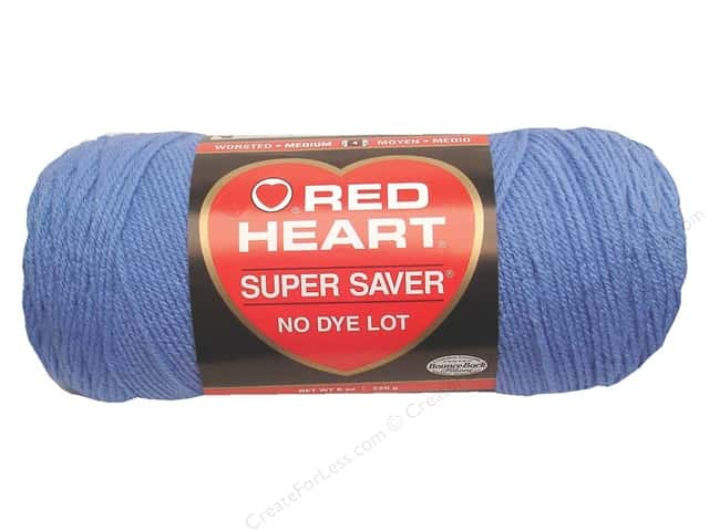 Red Heart Super Saver Yarn #0347 Lt Periwinkle 7 oz.