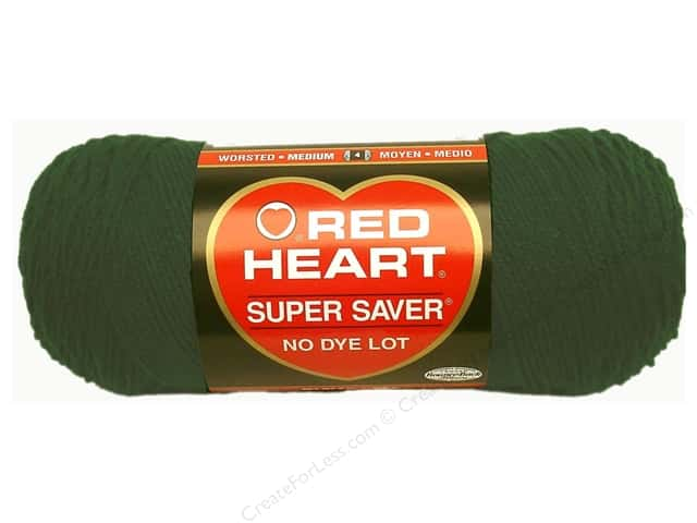 Red Heart Super Saver Yarn #0389 Hunter Green 7 oz.