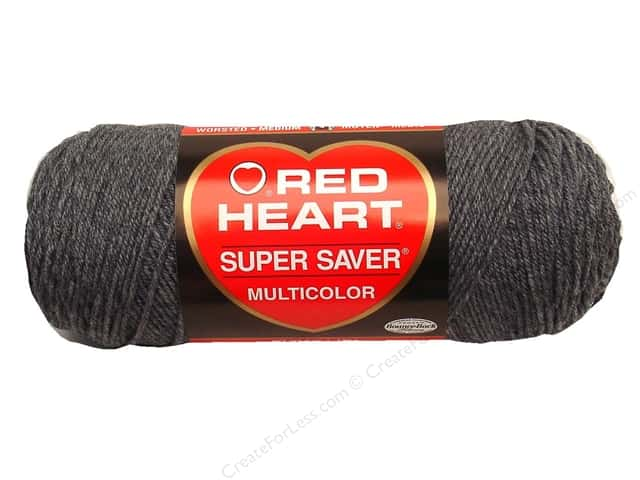 Red Heart Super Saver Yarn #0400 Grey Heather 7 oz.