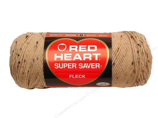 Red Heart Super Saver Yarn #4334 Buff Fleck 5 oz.