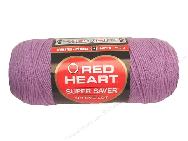 Red Heart Super Saver Yarn #0530 Orchid 7 oz.