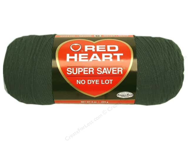 Red Heart Super Saver Yarn #0633 Dark Sage 7 oz.