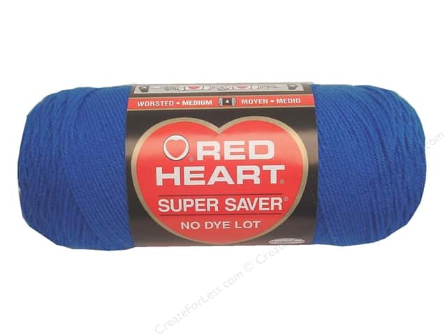 Red Heart Super Saver Yarn #0886 Blue 7 oz.