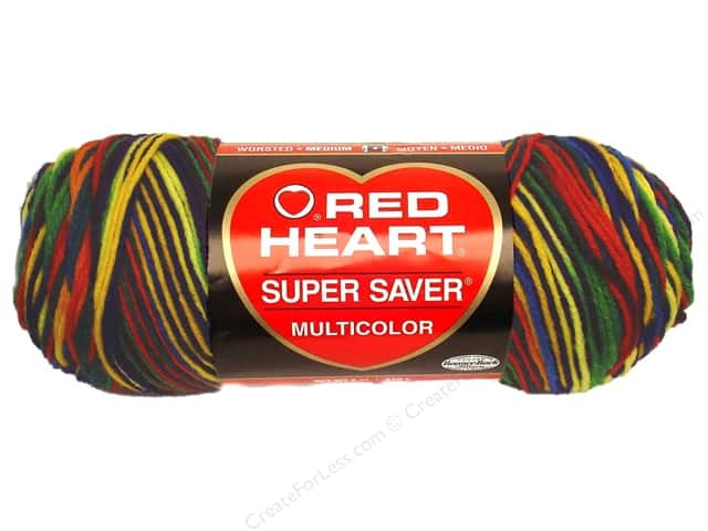Red Heart Super Saver Yarn #0950 Mexicana 5 oz.
