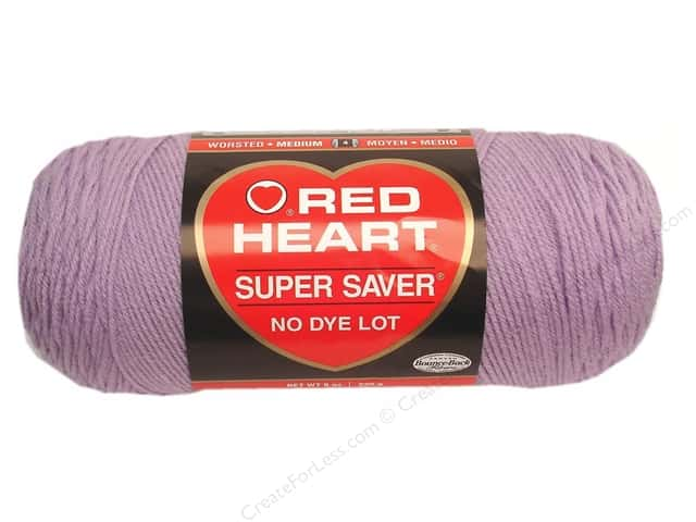 Red Heart Super Saver Yarn #0579 Pale Plum 7 oz.