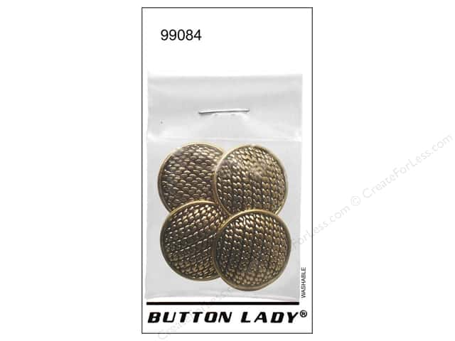 JHB Button Lady Buttons 7/8 in. Antique Gold #99084 4 pc.