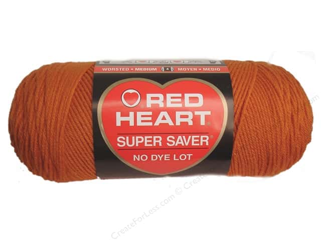 Red Heart Super Saver Yarn #0256 Carrot 7 oz.