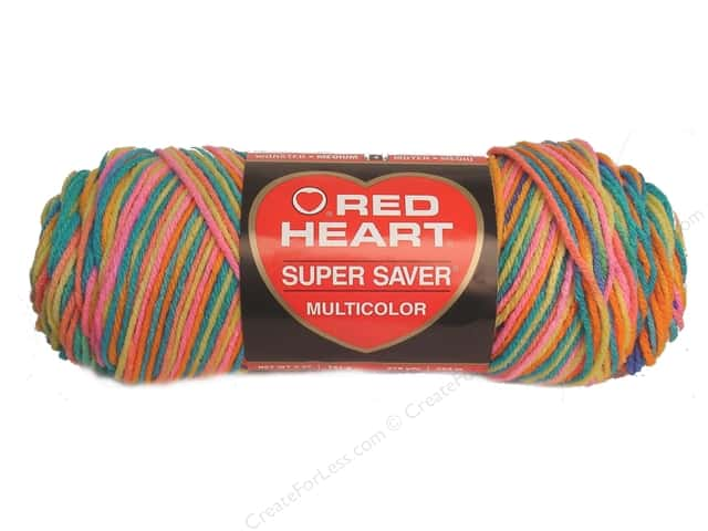 Red Heart Super Saver Yarn #0929 Bikini 5 oz.